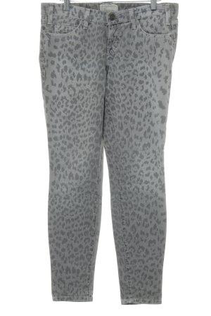 Current/elliott Skinny Jeans hellbeige-graubraun Leomuster Animal-Look