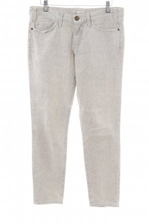 Current/elliott Skinny Jeans light grey animal pattern casual look