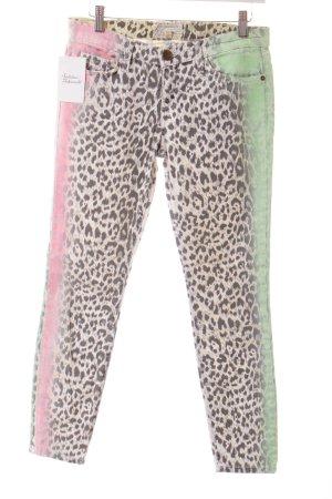 Current/elliott Skinny Jeans Leomuster extravaganter Stil