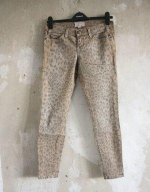 Current Elliott Skinny Jeans mit Leomuster