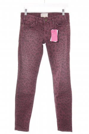Current/elliott Skinny Jeans purple-black animal print