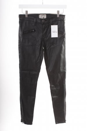 Current/elliott Skinny Jeans schwarz Biker-Look