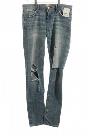 Current/elliott Skinny Jeans stahlblau Destroy-Optik