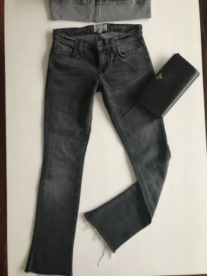 Current Elliott skinny slim fit ankle Jeans Anthrazitgrau schwarz 24