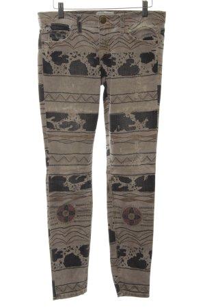 Current/elliott Slim Jeans hellgrau-schwarz Mustermix Street-Fashion-Look