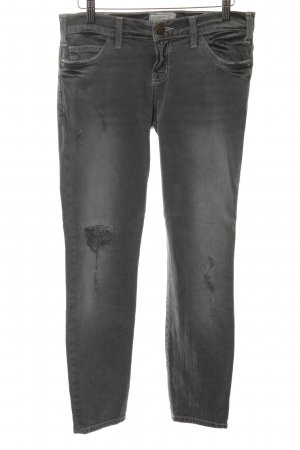 Current/elliott Slim Jeans schwarz-hellgrau Street-Fashion-Look