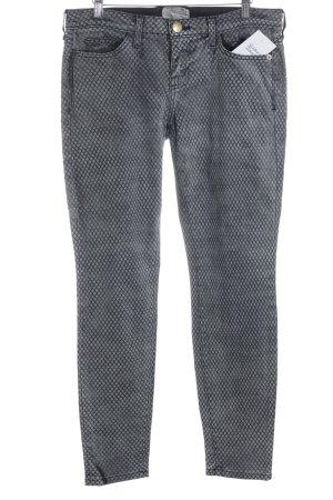 Current/elliott Slim Jeans grau-schwarz Allover-Druck Street-Fashion-Look