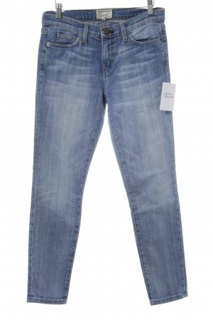 Current/elliott Slim Jeans stahlblau-wollweiß Casual-Look