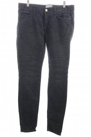 Current/elliott Straight-Leg Jeans anthrazit Street-Fashion-Look
