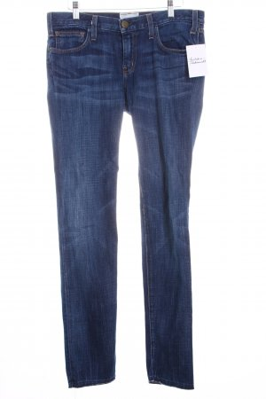 Current/elliott Straight-Leg Jeans dunkelblau Street-Fashion-Look