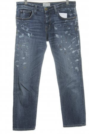 Current/elliott Straight-Leg Jeans Farbtupfermuster Casual-Look