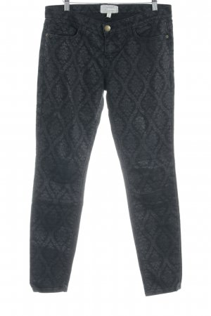 Current/elliott Straight-Leg Jeans schwarz Paisleymuster Casual-Look