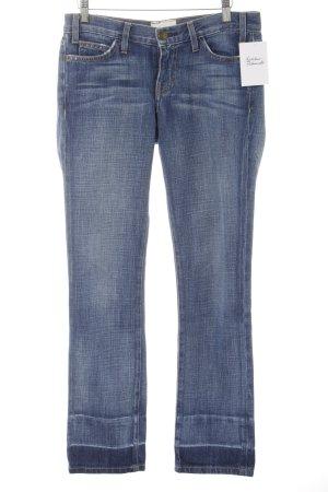 Current/elliott Straight-Leg Jeans stahlblau schlichter Stil