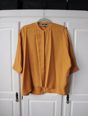 Curry Senf gelbes Top Bluse Hemd von Tigha Größe M 36 38
