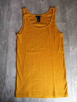 Currygelbes Basic Tanktop