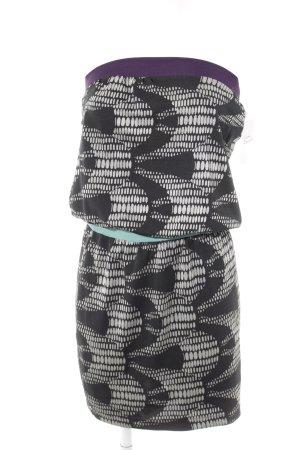 Custo Bandeaukleid schwarz-dunkelviolett Mustermix schlichter Stil