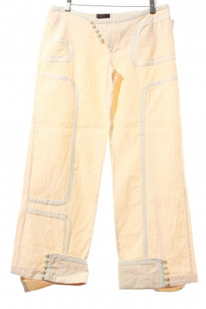 Custo Barcelona 7/8-Hose apricot-wollweiß Streifenmuster Casual-Look