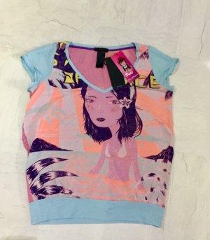 CUSTO BARCELONA Shirt, Damenshirt, T-Shirt, Vintage Style Shirt
