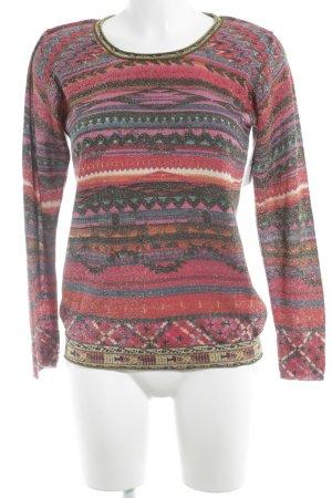 Custo Barcelona Camisa tejida estampado azteca estampado azteca