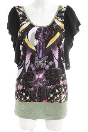 Custo Barcelona T-Shirt abstraktes Muster Casual-Look