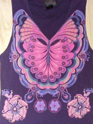 Custo Bareclona Das Schönste Kleid XS 34 Schmetterling Lila Bunt