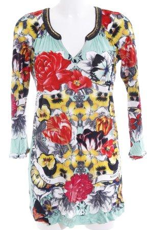Custo Line Robe t-shirt motif de fleur style rétro