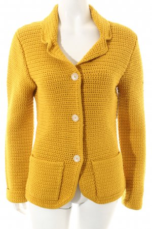 Customer Lovers Strickjacke gelb Casual-Look