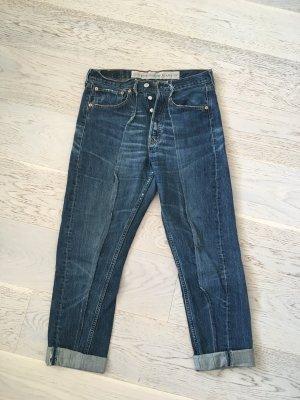 Levi's Pantalon taille haute bleu foncé