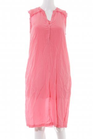 Custommade Chiffon Dress neon pink casual look