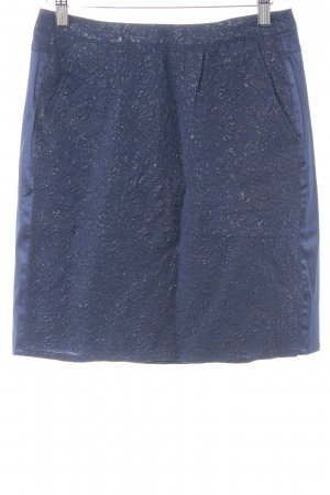 Custommade High Waist Rock stahlblau abstraktes Muster Business-Look
