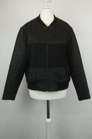 Custommade Blouson noir-argenté tissu mixte