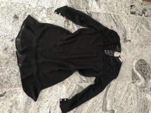 Custommade Vestido estilo flounce negro
