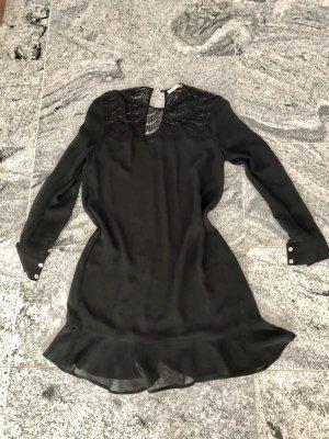 Custommade Volante jurk zwart