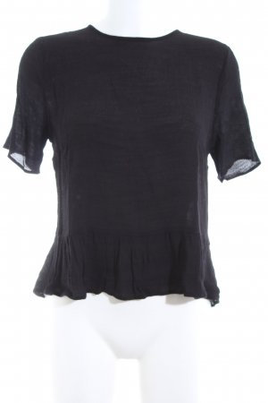 Custommade Short Sleeved Blouse black casual look