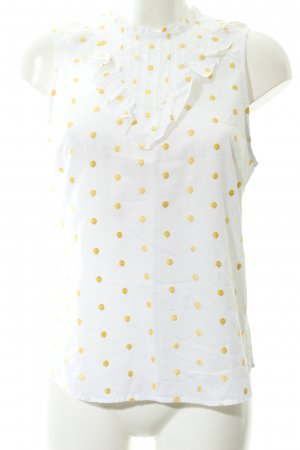 Custommade Halter Top white-yellow spot pattern casual look