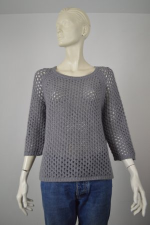 Custommade Coarse Knitted Sweater grey wool