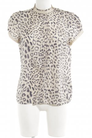 Custommade Schlupf-Bluse creme-grau Animalmuster extravaganter Stil