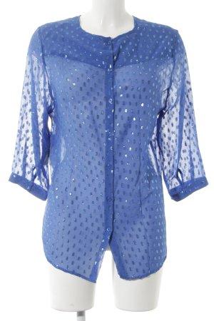 Custommade Seidenbluse blau Elegant