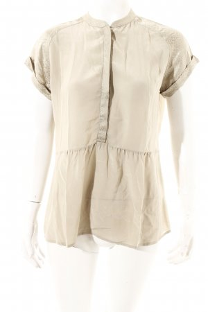 Custommade Silk Blouse oatmeal shimmery