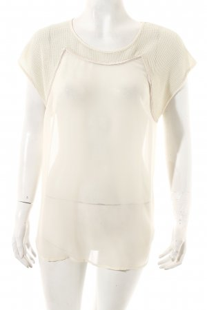 Custommade Silk Top cream transparent look
