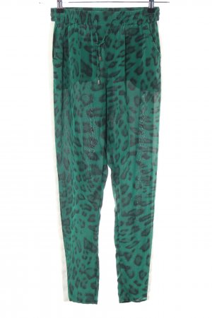 Custommade Jersey Pants green-black animal pattern casual look