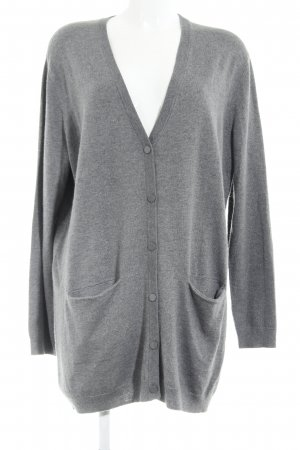 Custommade Strick Cardigan grau Casual-Look