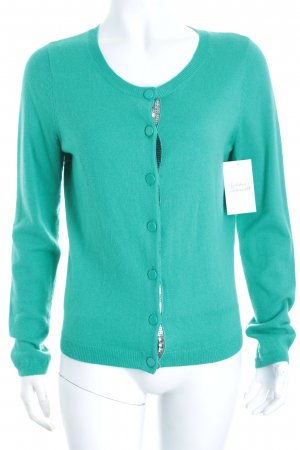 Custommade Strickjacke türkis Casual-Look