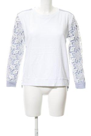 Custommade Sweatshirt kornblumenblau-weiß Streifenmuster Casual-Look