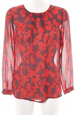Custommade Transparent Blouse red-black graphic pattern elegant