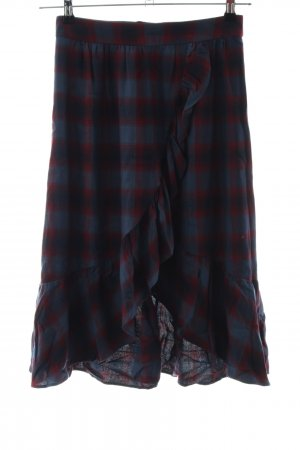 Custommade Flounce Skirt blue-red check pattern casual look