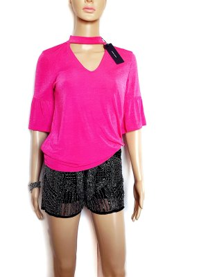 Vero Moda Blusa de manga corta rosa-violeta Poliéster