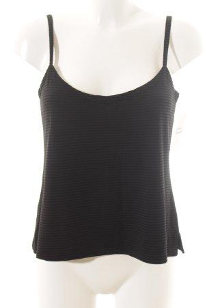 Cut Loose Basic Top schwarz-graublau Streifenmuster Casual-Look