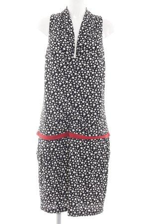 Cut Loose Jerseykleid schwarz-weiß Punktemuster Casual-Look