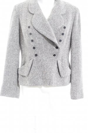 Cut Loose Knitted Blazer zigzag pattern classic style
